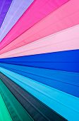 Rainbow Spectrum Multicolored Texture Of An Umbrella As Background. poster