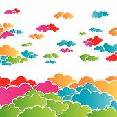 Rainbow Cloudscape Background