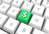 Business Dollar Cash Symbol On A Pc