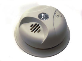 picture of smoke detector  - isolated smoke detector - JPG