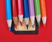 Bleistifte auf Speicherkarte