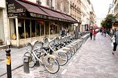 Paris - May 7: Bicycle Sharing Station On May 7, 2009 In Paris, France. With More Than 20 Thousand B