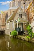 old town of  Delft, Netherlands