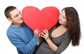 Smiling Loving Couple Tenderly Looking