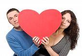 Loving Couple Tenderly Holding Heart