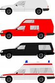 stock photo of hearse  - Different types of cars - JPG