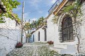 Cobbled Street In Berat Albania
