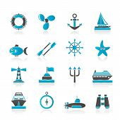 picture of poseidon  - Marine and sea icons  - JPG