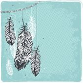 picture of riddles  - Ethnic Dream catcher - JPG
