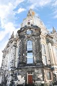 The Famous Frauenkirche (church Of Our Lady) In Dresden, Germany