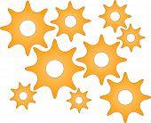 Yellow Roundish Gears