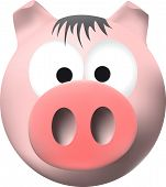 Pink Pig With Big Snout