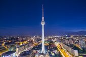 BERLIN - SEPTEMBER 17, 2013: Fernsehturm TV Tower September 17, 2013 in Berlin, Germany. At a height