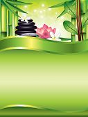 Spa Treatment Vertical Vector Background
