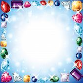 Diamonds And Gemstones Vector Frame