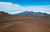Road Climbing Above Haleakala Crater In Maui