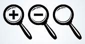 Magnifying glass. Vector illustration.