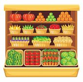 Supermarket Vegetables And Fruit