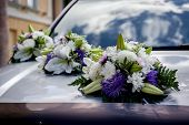 picture of day-lilies  - Wedding car decoration - JPG