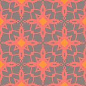 Pattern with bold ornamental stylized flowers
