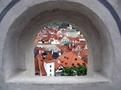 View From The Medieval Castle Window. poster