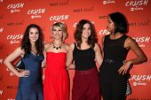 LOS ANGELES - NOV 6:  Vanessa Marano, Chelsea Kane, Maia Mitchell, Kylie Bunbury at the CRUSH by ABC Family Clothing Line Launch at London Hotel on November 6, 2013 in West Hollywood, CA