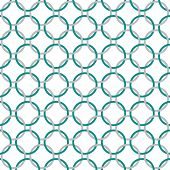 Teal, Gray And White Interlaced Circles Textured Fabric Background