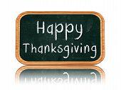 Happy Thanksgiving Day On Blackboard Banner