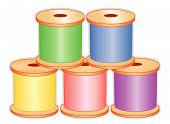 Sewing Thread, Pastel Colors