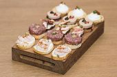 delicious catering finger food set