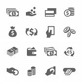 stock photo of bank vault  - Simple icon set related to Money - JPG
