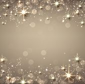 foto of starry  - Golden christmas abstract texture background - JPG