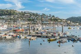 stock photo of dartmouth  - Dartmouth marina on the south coast of Devon - JPG