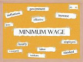 Minimum Wage Corkboard Word Concept