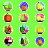 Tropical Fruit Flat Icon