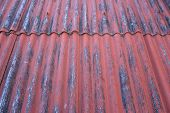 Red rust roof background