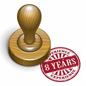 8 Years Experience Grunge Rubber Stamp