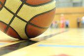 Basketball In A Gym