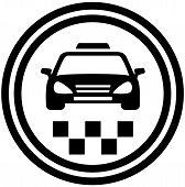 taxi round icon