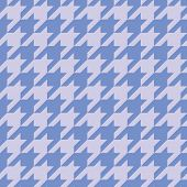 Houndstooth vector seamless blue pattern or tile background.