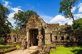 Ancient Preah Khan temple entrance, Siem Reap, Cambodia