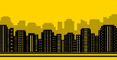 yellow city backdrop