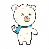 cartoon cute polar bear