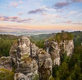 foto of bohemian  - Sandstone formations in Bohemian Paradise Czech Republic - JPG