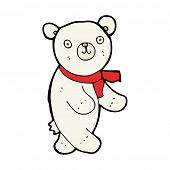 cute cartoon polar teddy bear