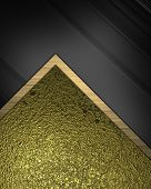 Abstract Background (substrate) For Writing Text With Gold And Black Fabric