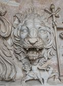 Greek Coat Of Arms With Tiger, Rome, Italy