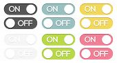 Set Of On - Off Buttons