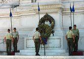 Change of guards at the Tomb of the Milite Ignoto in the Altare della Patria in Rome