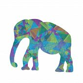 Cartoon Mosaic  Elephant